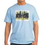 Audubon Black Bear Animal Light T-Shirt