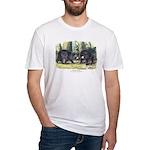 Audubon Black Bear Animal (Front) Fitted T-Shirt
