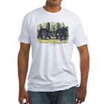 Audubon Black Bear Animal Fitted T-Shirt