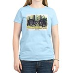 Audubon Black Bear Animal Women's Light T-Shirt