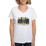 Audubon Black Bear Animal Women's V-Neck T-Shirt