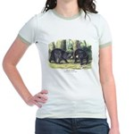 Audubon Black Bear Animal Jr. Ringer T-Shirt