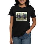 Audubon Black Bear Animal (Front) Women's Dark T-S