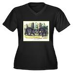 Audubon Black Bear Animal (Front) Women's Plus Siz