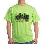 Audubon Black Bear Animal (Front) Green T-Shirt