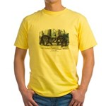 Audubon Black Bear Animal (Front) Yellow T-Shirt