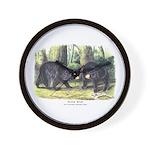 Audubon Black Bear Animal Wall Clock