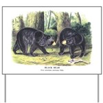 Audubon Black Bear Animal Yard Sign