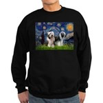 Starry / 2 Bearded Collies Sweatshirt (dark)