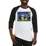 Starry / 2 Bearded Collies Baseball Jersey