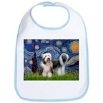 Starry / 2 Bearded Collies Bib