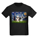 Starry / 2 Bearded Collies Kids Dark T-Shirt