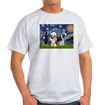Starry / 2 Bearded Collies Light T-Shirt