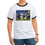 Starry / 2 Bearded Collies Ringer T