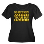 Shirt > House Women's Plus Size Scoop Neck Dark T-