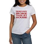 Shirt > House White/Red Women's T-Shirt
