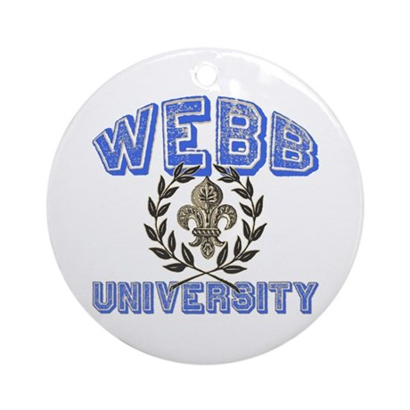 Webb Last Name University Ornament (Round)