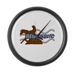 Reinaholic in brown Large Wall Clock
