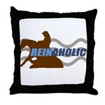 Reinaholic in brown Throw Pillow