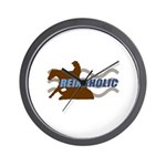 Reinaholic in brown Wall Clock