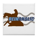 Reinaholic in brown Tile Coaster