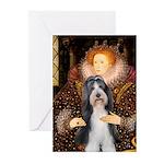 Queen / Beardie #6 Greeting Cards (Pk of 10)