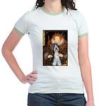 Queen / Beardie #6 Jr. Ringer T-Shirt