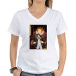 Queen / Beardie #6 Women's V-Neck T-Shirt
