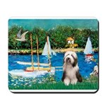 Sailboats / Beardie #1 Mousepad