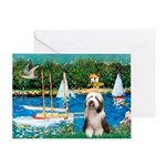 Sailboats / Beardie #1 Greeting Card