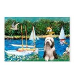 Sailboats / Beardie #1 Postcards (Package of 8)