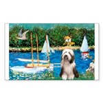 Sailboats / Beardie #1 Sticker (Rectangle)