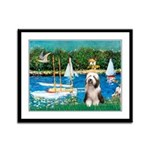 Sailboats / Beardie #1 Framed Panel Print