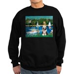 Sailboats / Beardie #1 Sweatshirt (dark)
