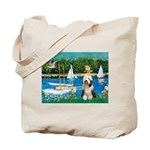Sailboats / Beardie #1 Tote Bag