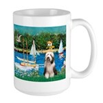 Sailboats / Beardie #1 Large Mug