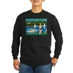 Sailboats / Beardie #1 Long Sleeve Dark T-Shirt