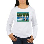 Sailboats / Beardie #1 Women's Long Sleeve T-Shirt