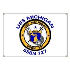SSBN 727 USS Michigan Banner