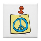 Remember Peace Tile Coaster