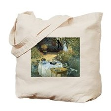 The Luncheon by Claude Monet Tote Bag