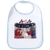 Red, White and Blue Bib
