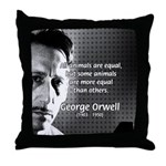 Animal Farm: George Orwell Throw Pillow