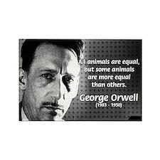 Animal Farm: George Orwell Rectangle Magnet