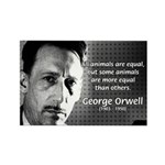 Animal Farm: George Orwell Rectangle Magnet (100 p
