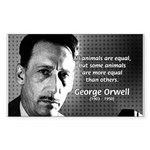 Animal Farm: George Orwell Rectangle Sticker