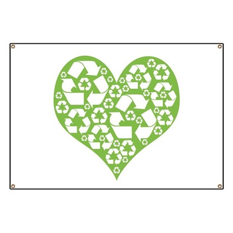 Green Heart Recycle Banner