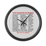 """Dems Hall of Shame"" Large Wall Clock"
