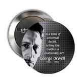 Novelist George Orwell Button