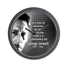 Novelist George Orwell Wall Clock